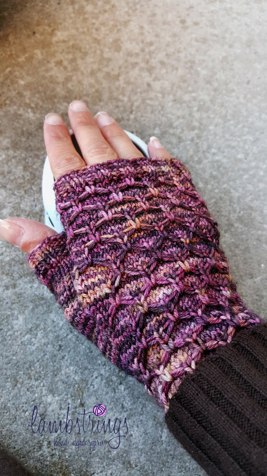 """Carbon Fingerless Mitts"" FREE"