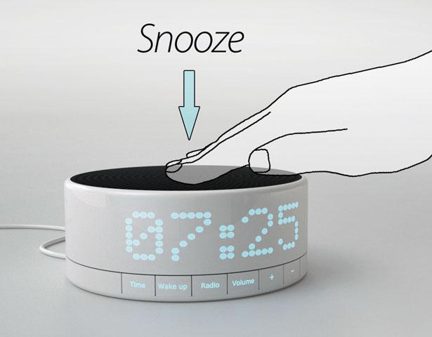 awake digital alarm clock by simon michel technology. Black Bedroom Furniture Sets. Home Design Ideas