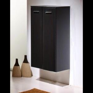 Meuble rangement salle de bain noir | Meuble décoration maison