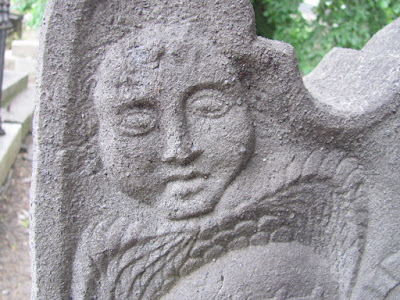 A face on a gravestone from 1802 Donnybrook Cemetery Dublin