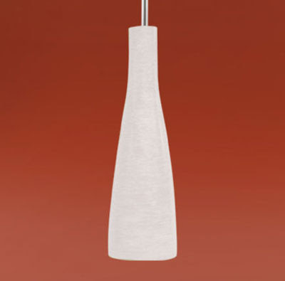 The 88234 Kameo Single White Bottle-shaped Pendant with a nickel matt suspension