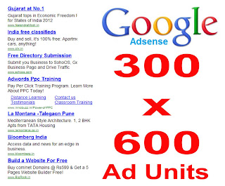 300 x 600 adsense large unit