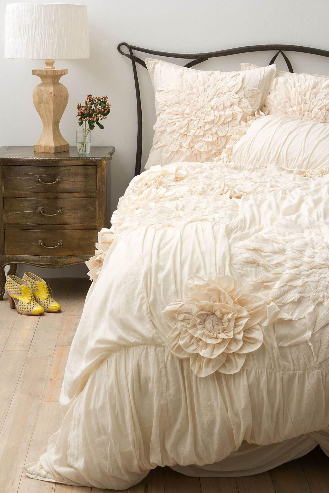 Amazing So girly So dreamy And it matches any paint color ever Georgina Duvet from Anthropologie