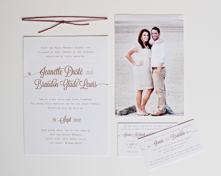 Kimberly Church || Wedding Invitation