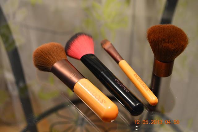 Essence brysh, ecotools, make up, make up brushes
