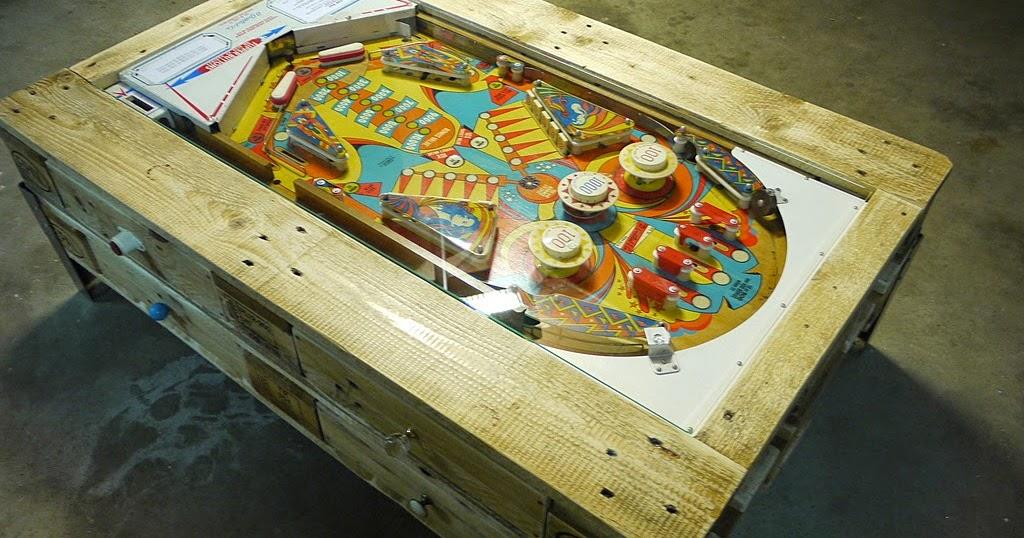 Mesa de caf con pinball integrado de for Pinball de mesa