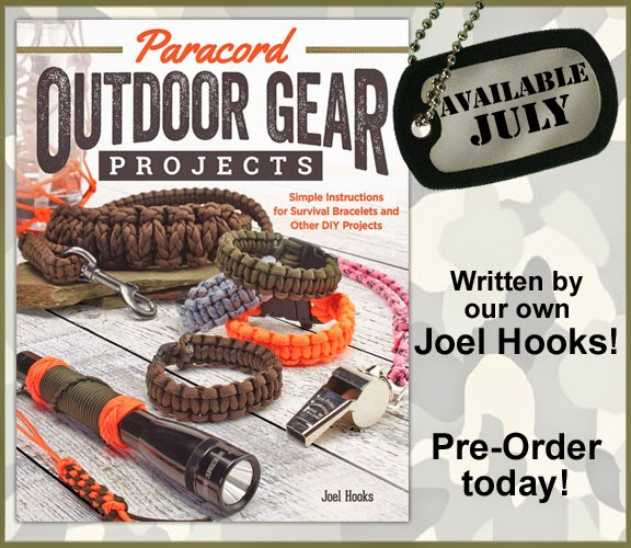 Paracord Outdoor Gear Projects, by Joel Hooks, Pepperell Braiding Company