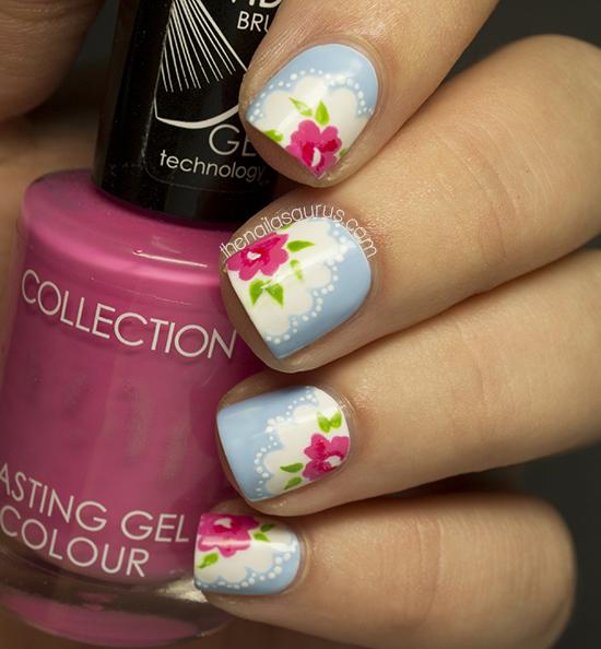 Cath Kidston Provence Rose Nail Art