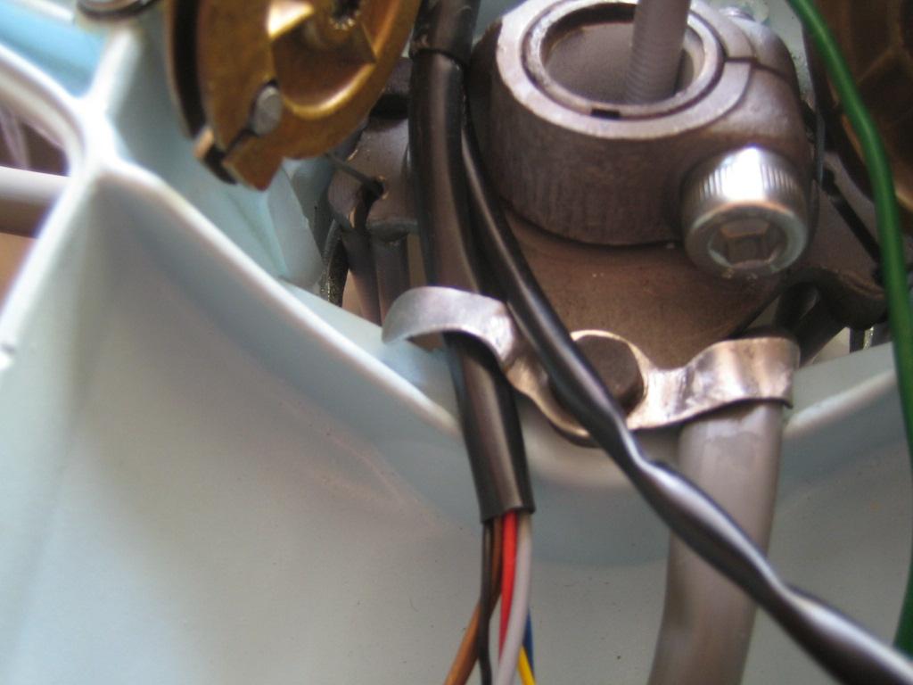 Lambretta Restoration  Adding Lights Switch  Headset