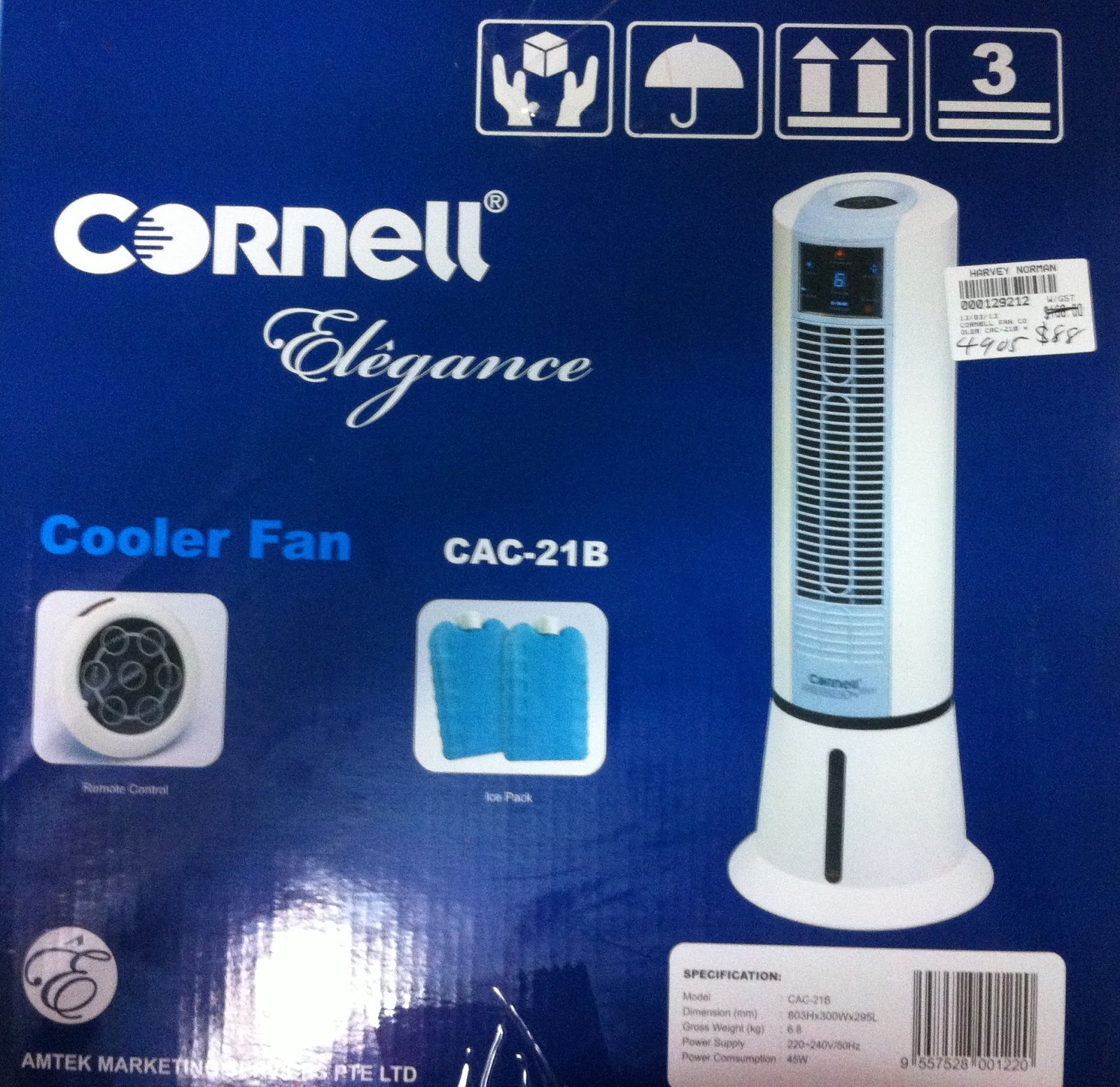 Ice Pack Air Coolers : Fendercat cornell air cooler cac b