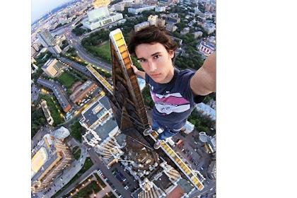 Aksi Selfie Paling Ekstrem di Puncak Gedung