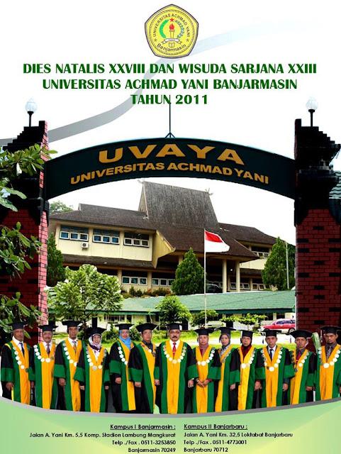 Universitas Achmad Yani Banjarmasin rayakan Dies Natalis XXVIII dan Wisuda Sarjana XXIII pada tanggal 19 Oktober 2011
