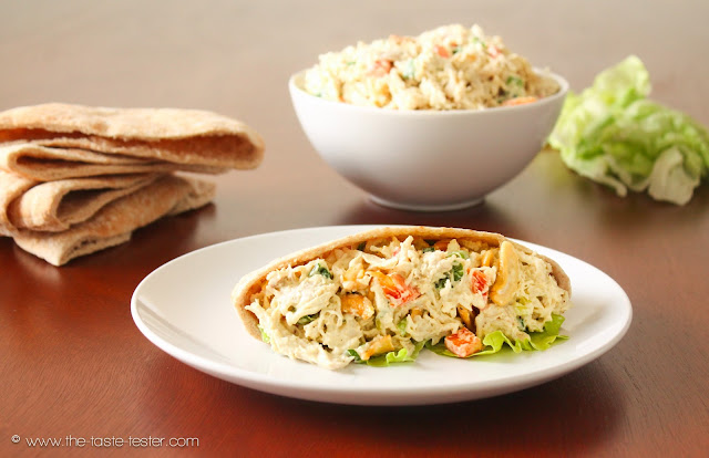 Curry Chicken Salad from www.the-taste-tester.com #recipe