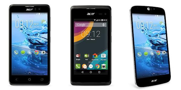 entry-level Acer Liquid Z220, Acer Liquid Z520 and Acer Liquid Jade Z.