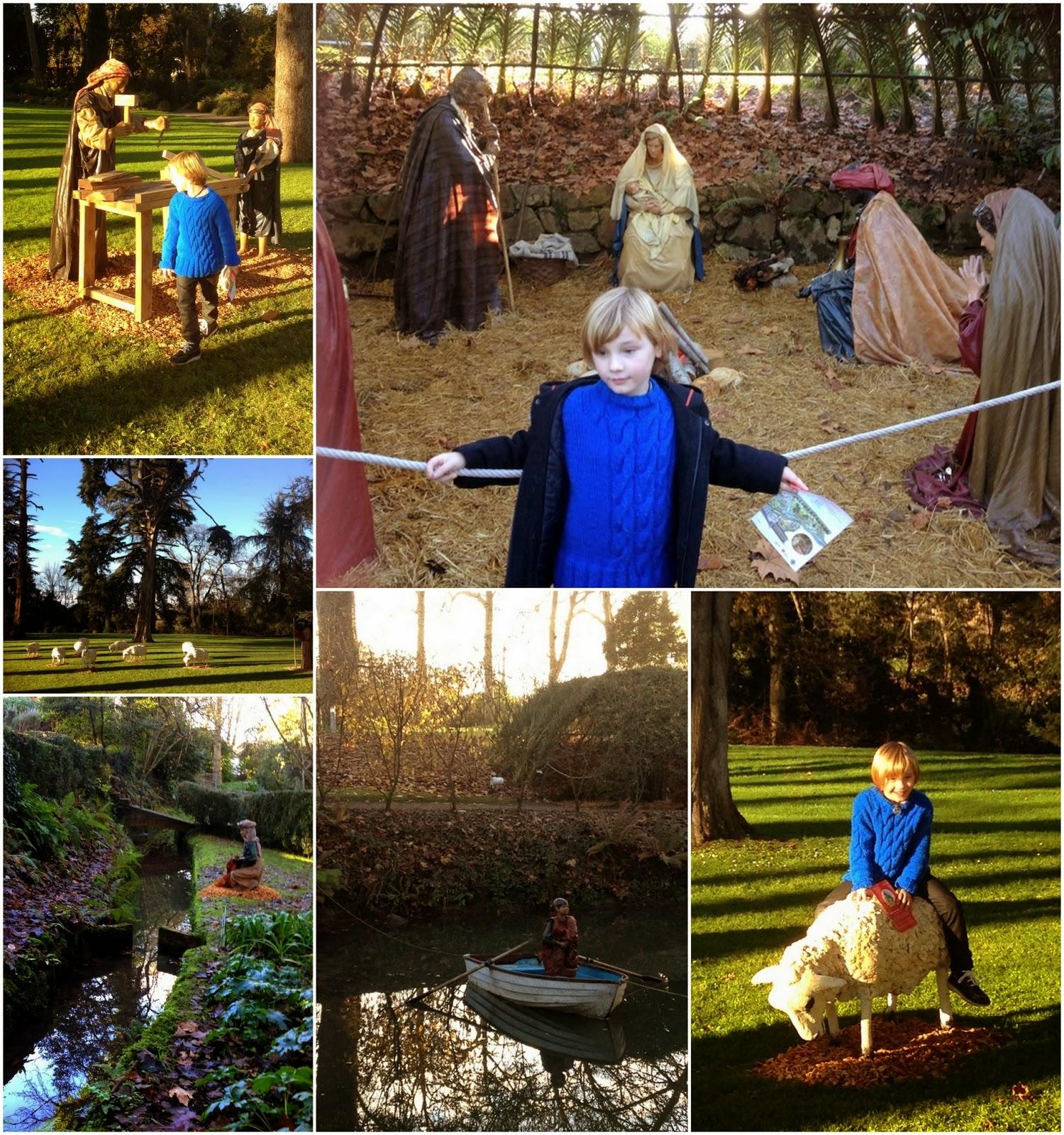 Asturias con niños: Belén Monumental en el Botánico