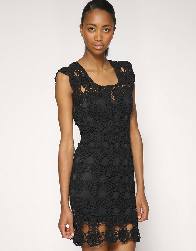Crochet Dress : Black Crochet Dress. Easy.