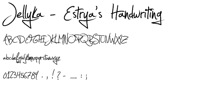 Estrya s Handwriting