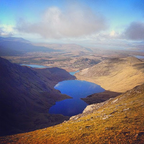View from the top of Carrauntoohil Ireland