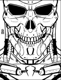 Terminator Coloring Pages Sketch Coloring Page
