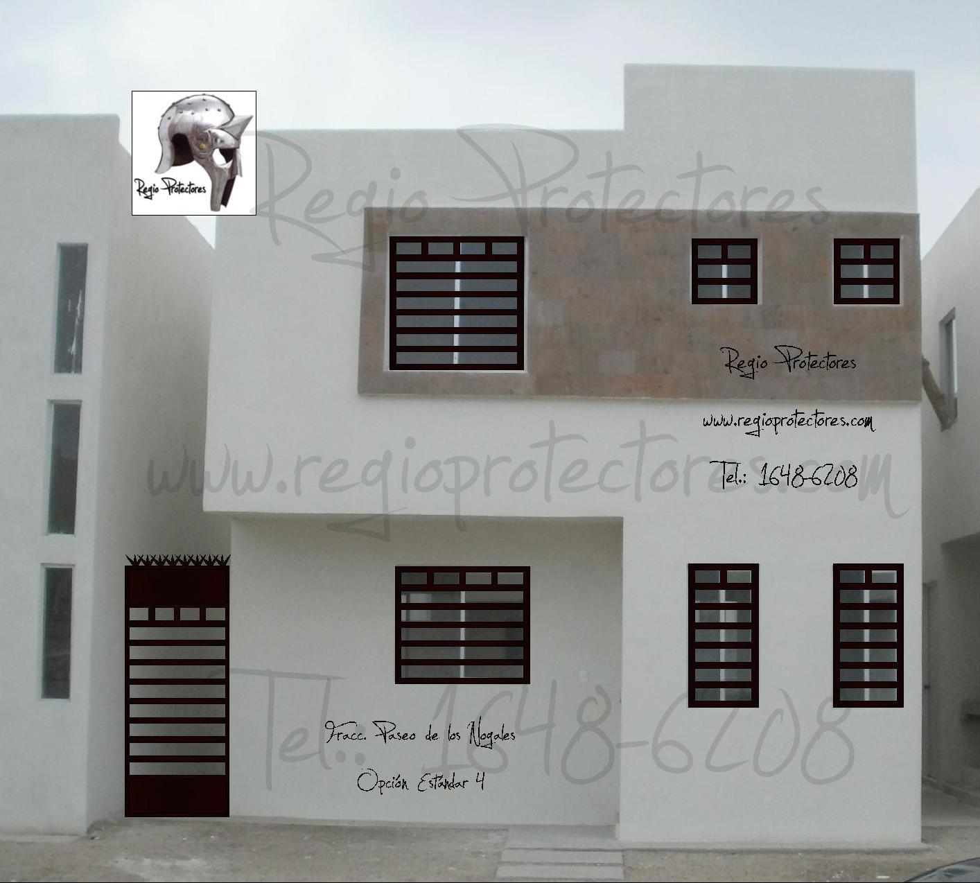 Protecciones para ventanas de herreria fotograf 237 a de for Casa minimalista wikipedia