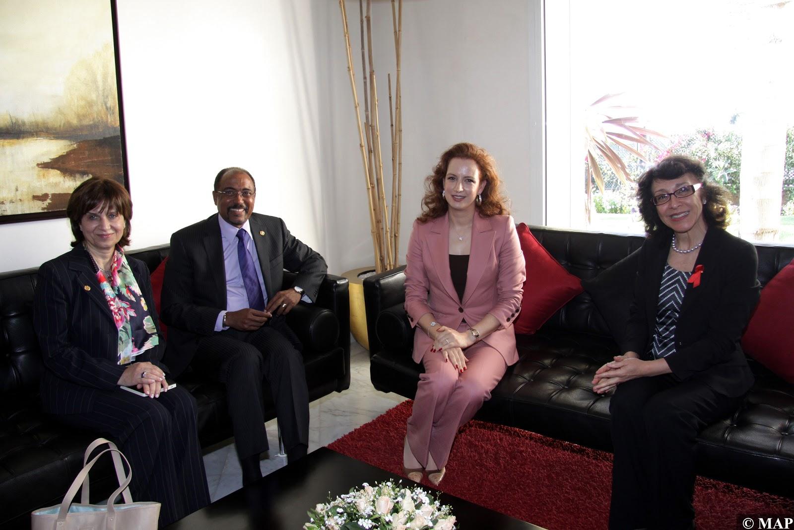 Actualités de la princesse lalla salma en 2012 lutte contre le sida