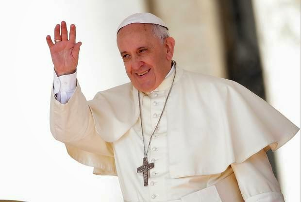 Pope says to listen to angels, nothing about Bible or Jesus