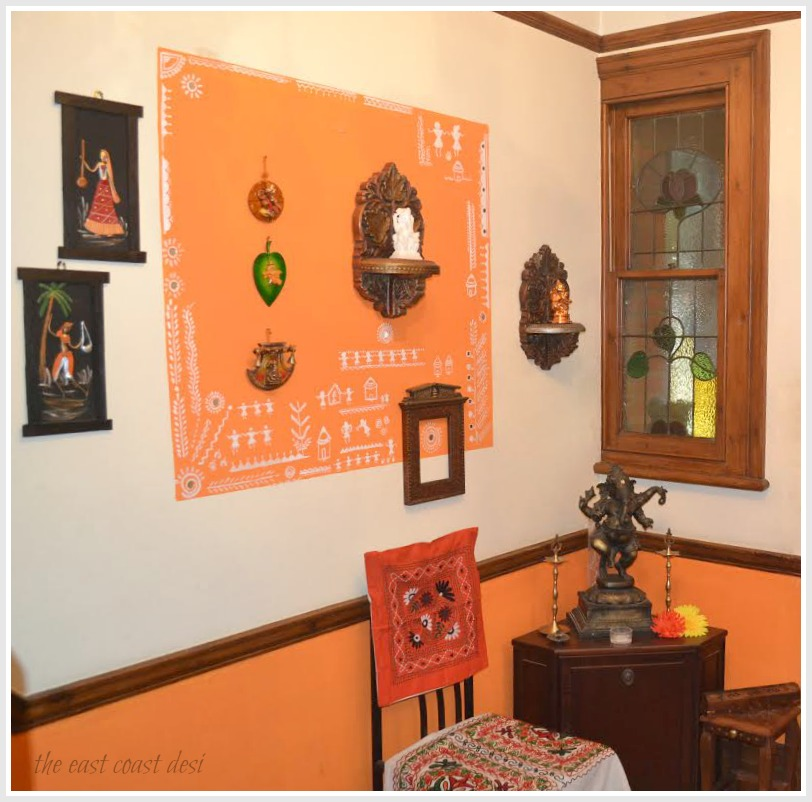 The east coast desi india inspired home tour for Indian foyer decorations