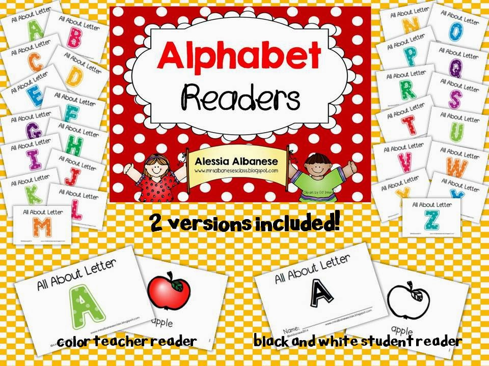 http://www.teacherspayteachers.com/Product/Alphabet-Readers-1065673