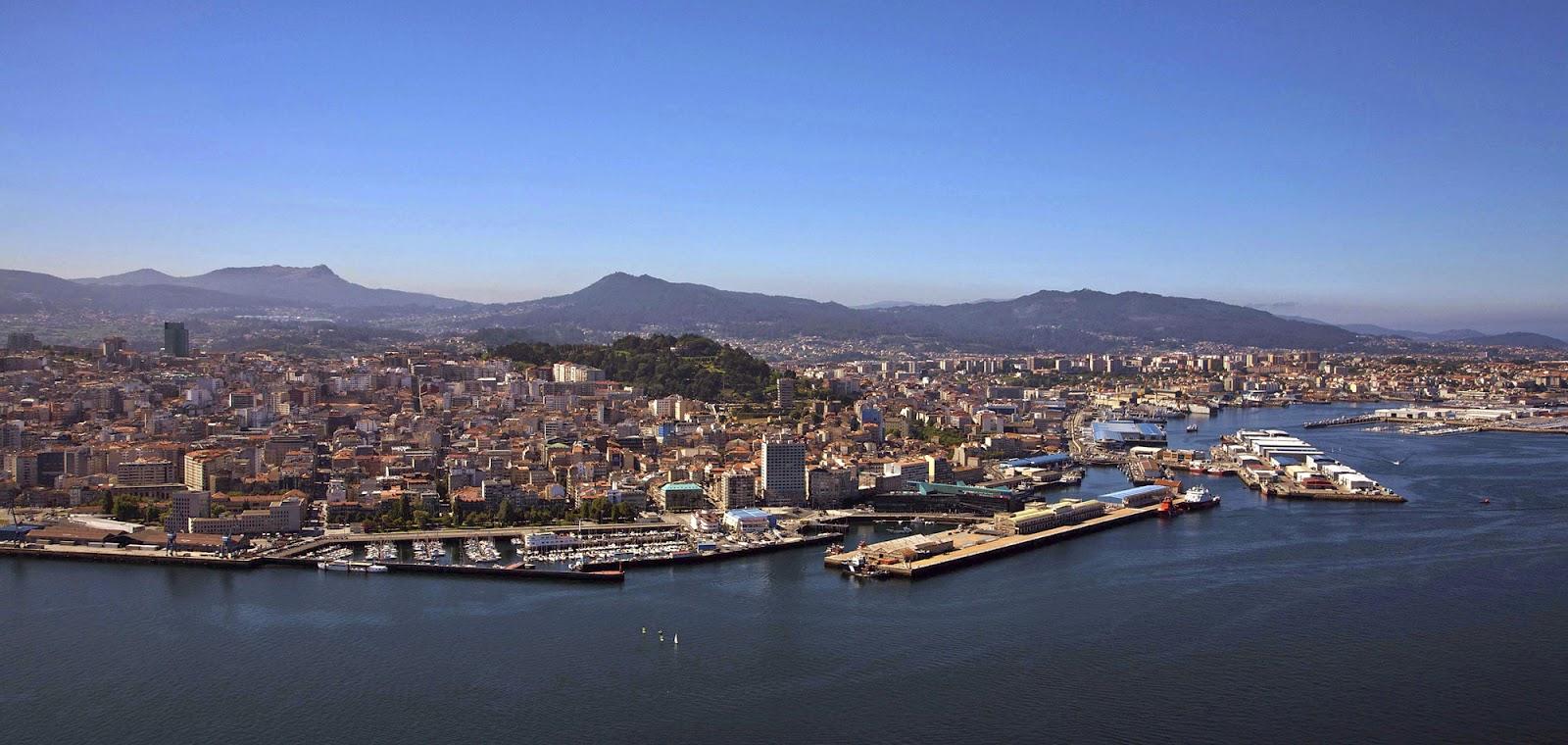 Panorámica de la ciudad gallega de Vigo