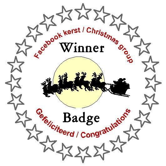 2-11-2017 KERST/CHRISTMAS facebook challenge gewonnen