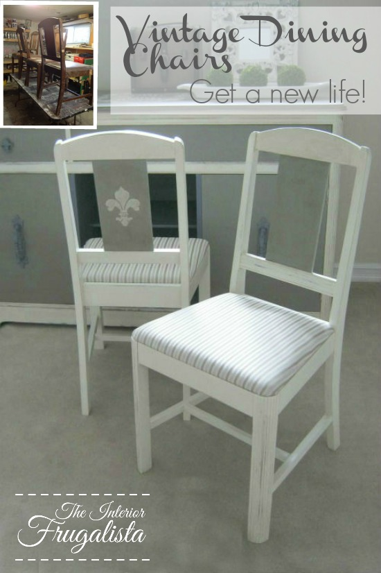Vintage Dining Chairs Before and After