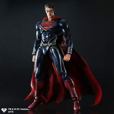 Square Enix Play Arts Kai Man of Steel Superman Figure