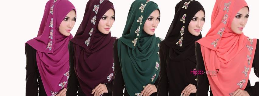 Hijabzone7 - Tudung or Hijab Online Malaysia: Tutorial Halfmoon Shawl
