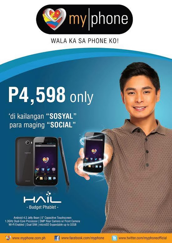 MyPhone Agua Hail 5-inch Dual-Core Phablet for PHP4,598