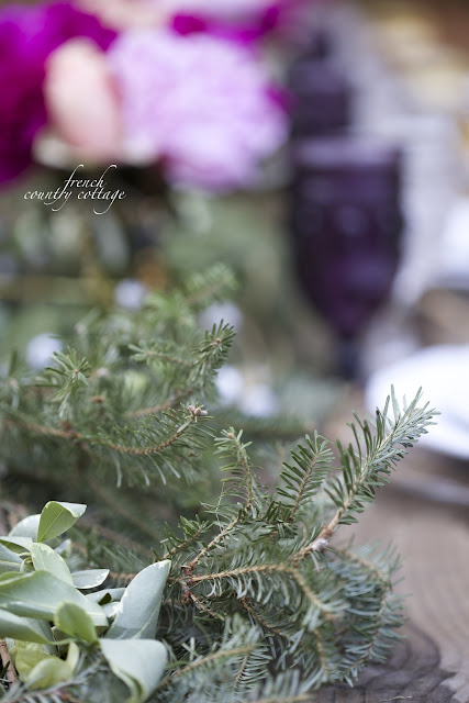 Fresh Christmas garland centerpiece