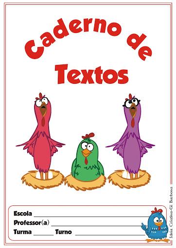 capa para caderno de textos galinha pintadinha