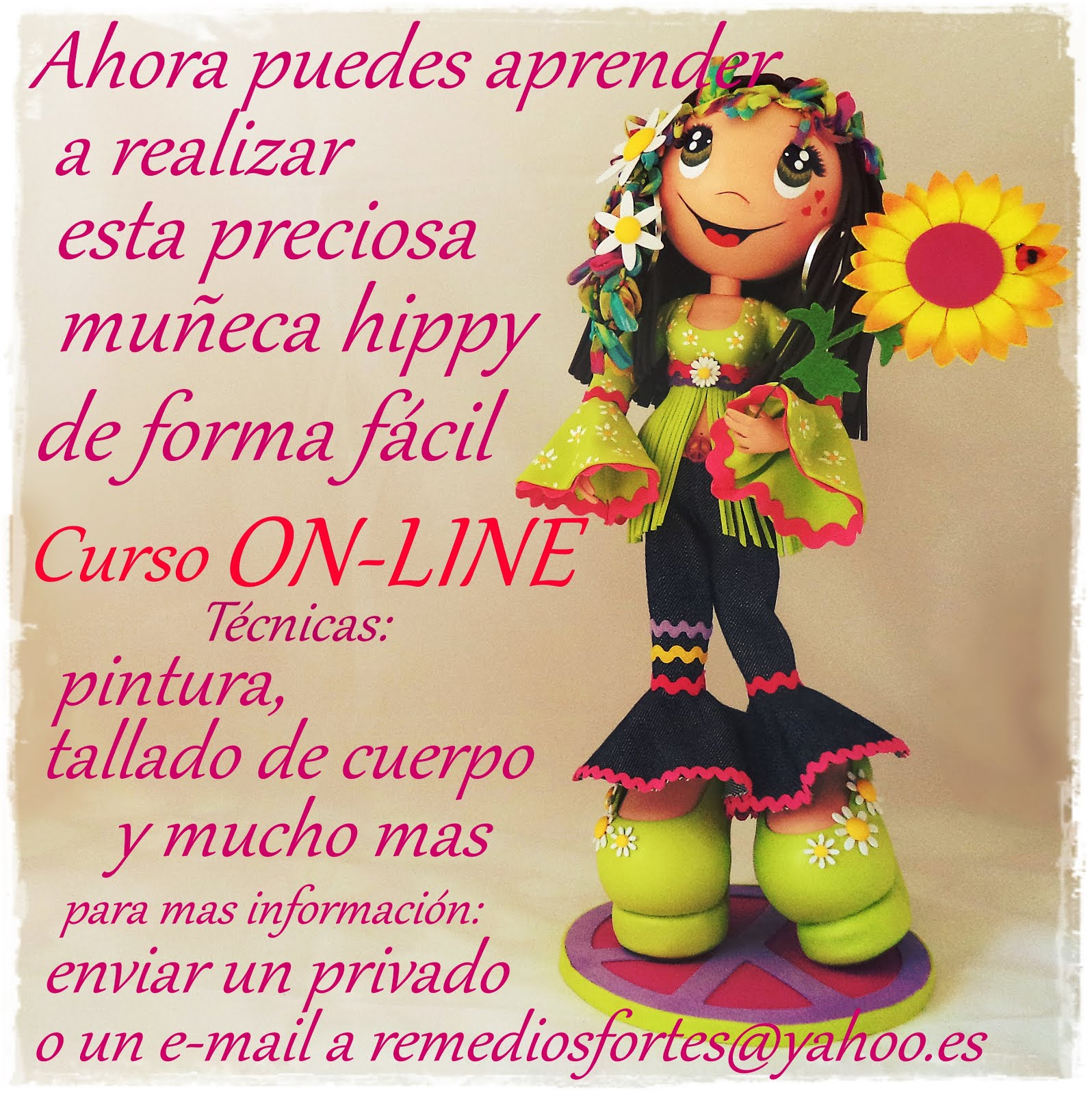 Tutorial on-line muñeca hippy