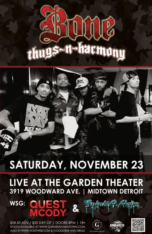 Hip In Detroit: Win Tickets to Bone Thugs-N-Harmony at The Garden ...