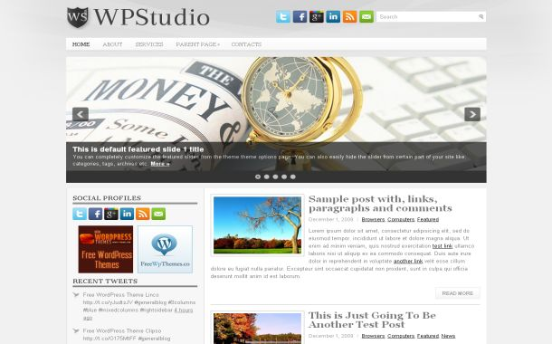 Free Wordpress Business Gray Jquery Web2.0 Theme