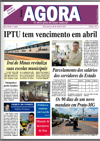 JORNAL AGORA EDIÇÃO 109-SEMANAL
