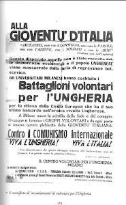 1956-VOLONTARI PER L' UNGHERIA