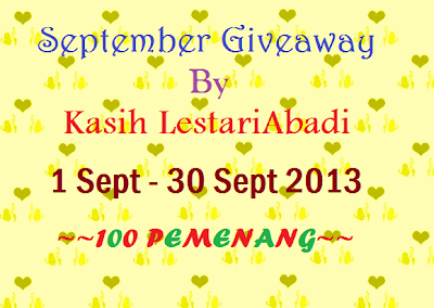 September, Giveaway September , September Giveaway By KasihLestariAbadi , KasihLestariAbadi