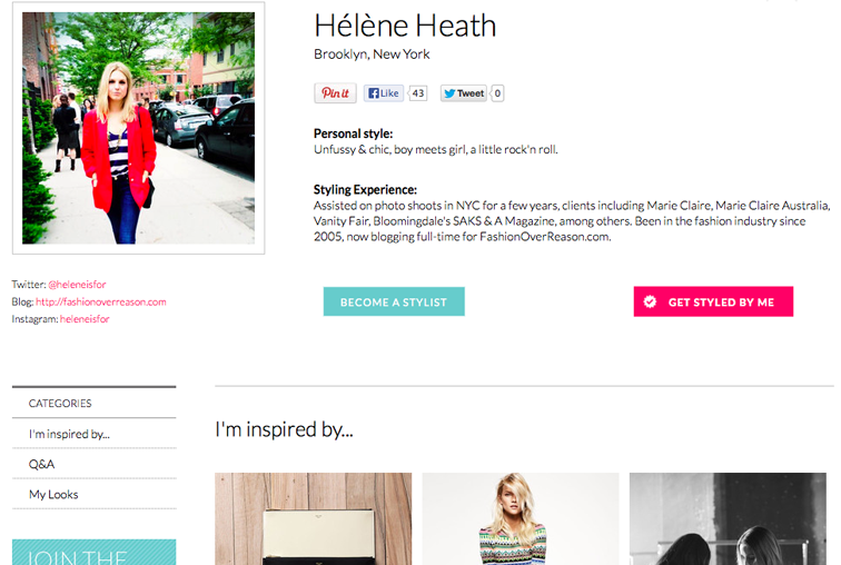 Keaton Row Personal Stylist Helene Heath