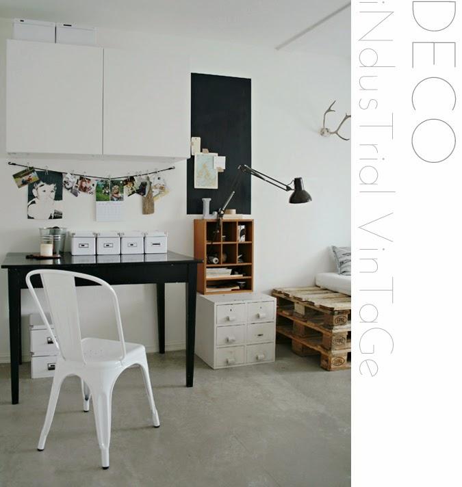 glamelie industrial vintage deco. Black Bedroom Furniture Sets. Home Design Ideas