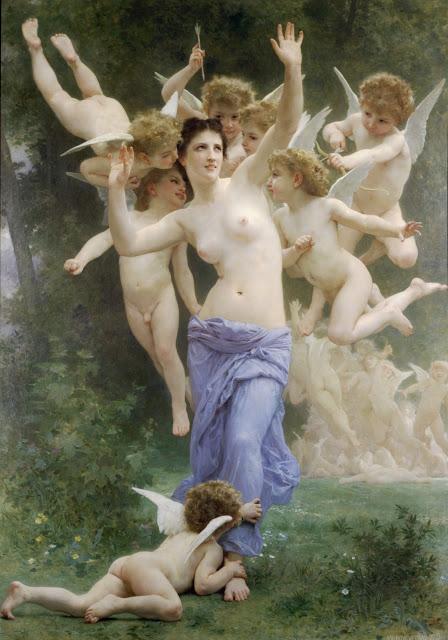Bouguereau,Cupids, myth painting