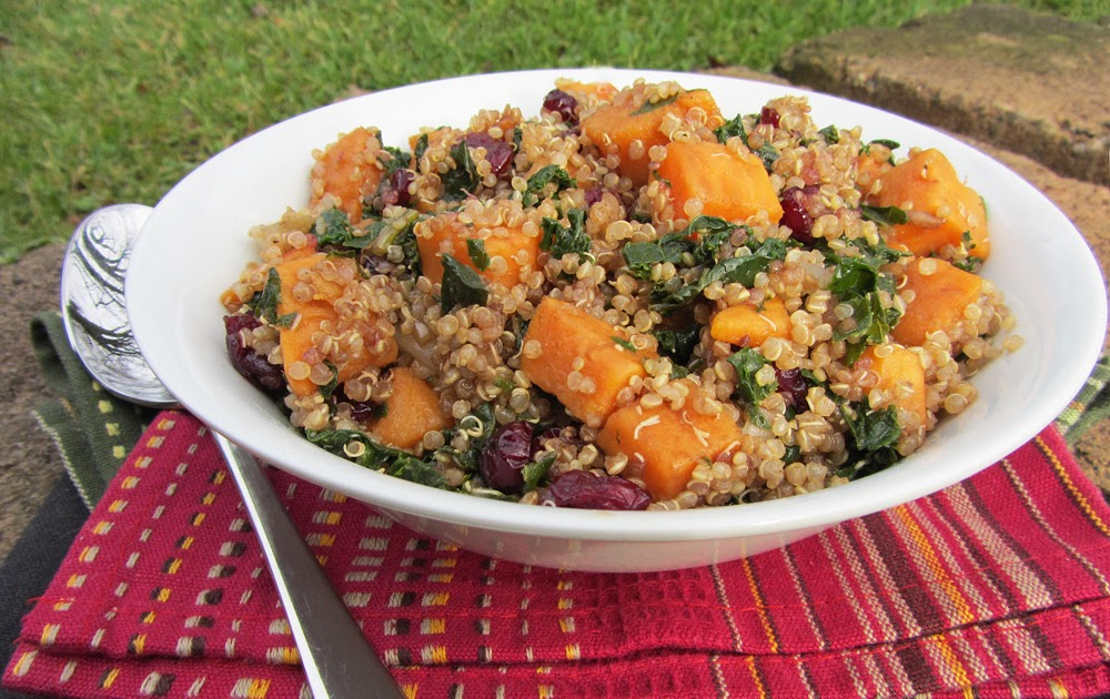 Sweet Potato, Kale, and Cranberry Quinoa Salad | Once Upon ...