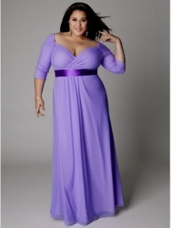 Purple Demanded Plus Size Bridesmaids Prom Gowns And Wedding Bridal