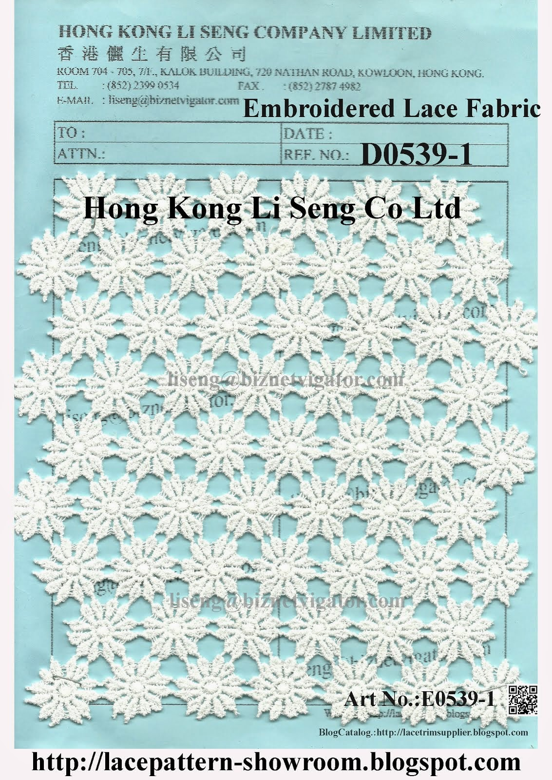 Embroidered Lace Fabric Factory - Hong Kong Li Seng Co Ltd