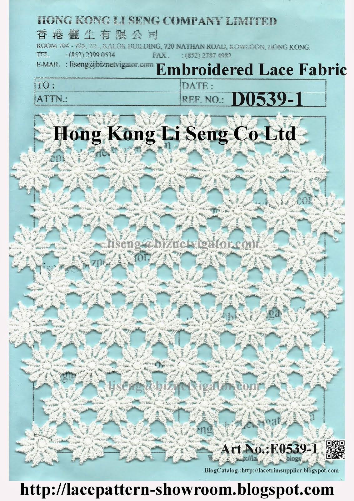 Embroidered Lace Fabric Factory - Hong Kong Li Seng Co Ltd