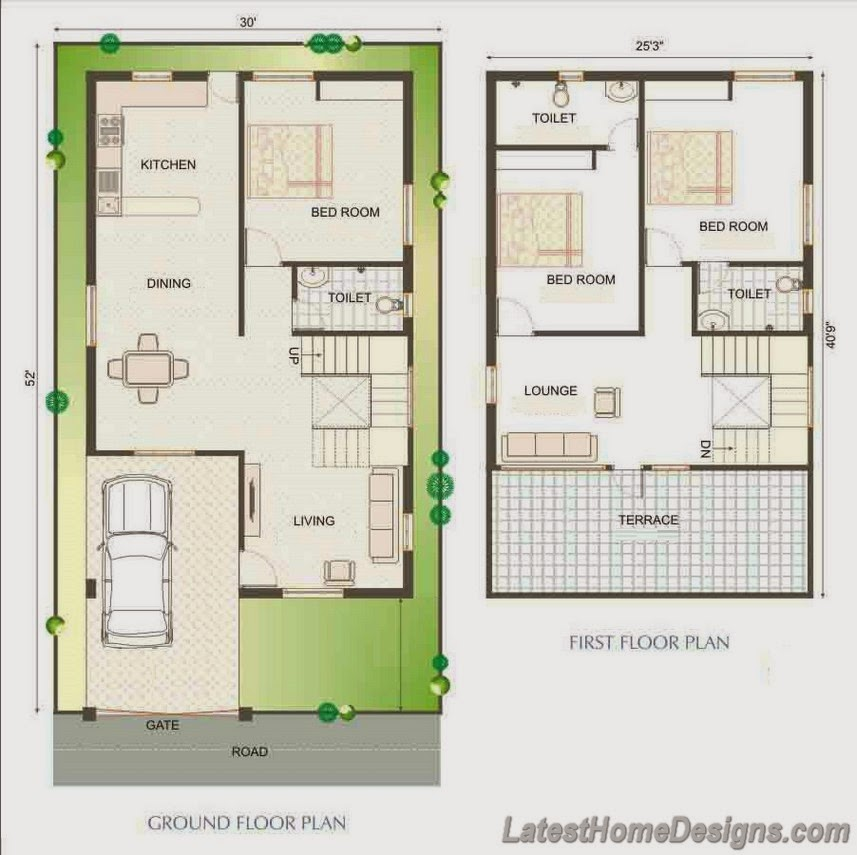 Small 3BHK duplex house plans Andhra Pradesh - Latest Home Designs